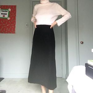 Vintage Velvet Black Skirt